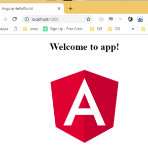 angular js project setup hello world