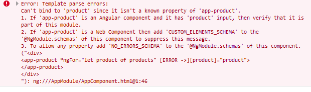 cant bind to property angular