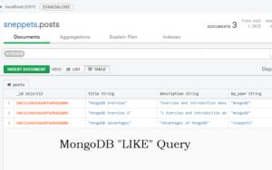mongodb like query