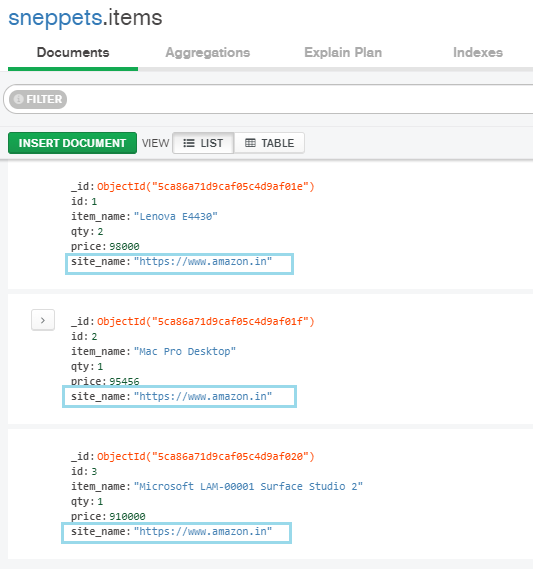 add new field in mongo collection documents