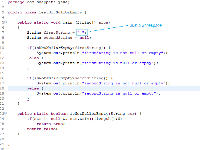 check if string is not empty and not null