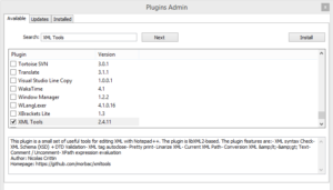 edit xml file XML tools