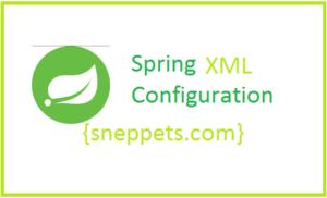 spring xml configuration