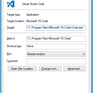 visual studio code install path