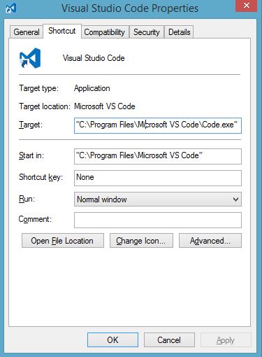 visual studio code install path
