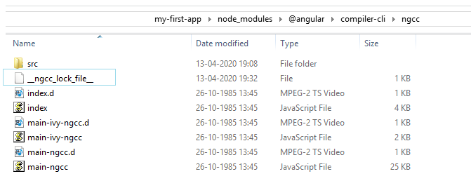 angular ngcc process lock file