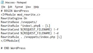 Default .htaccess file for WordPress website