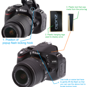 fix popup flash stuck in dslr camera