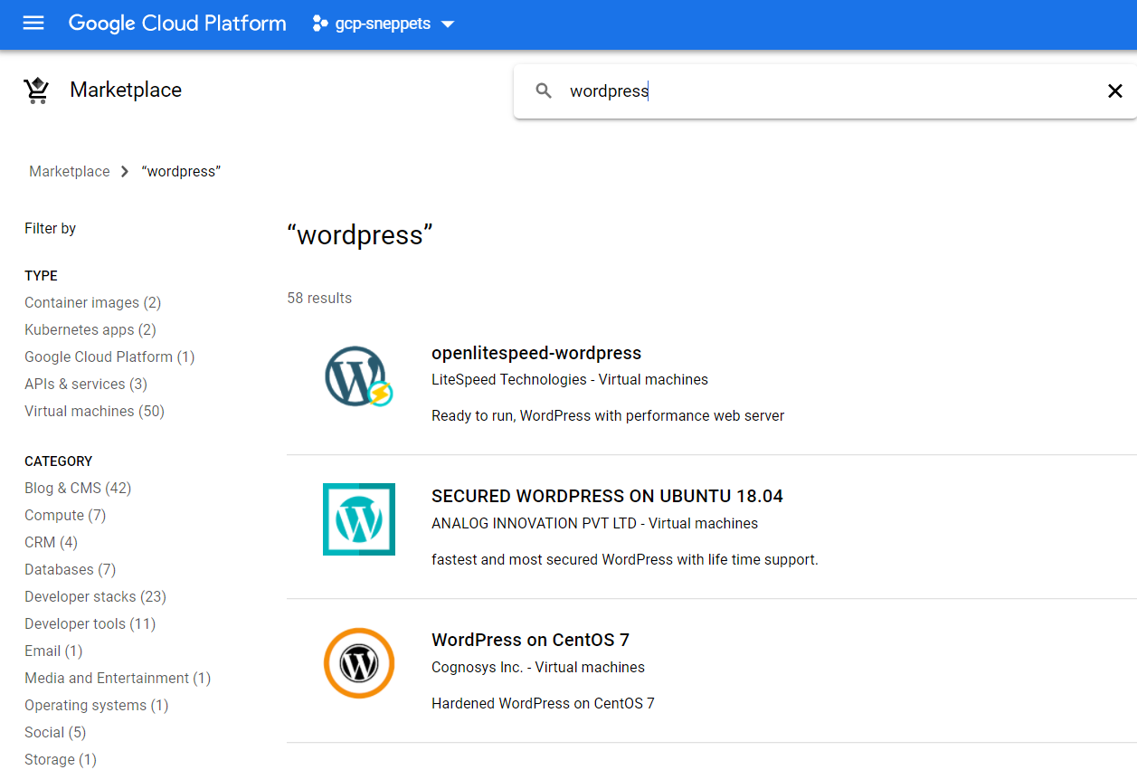 Transfer copy of WordPress website to Google Cloud