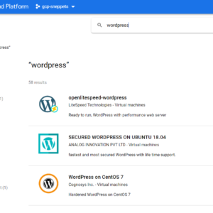 Transfer copy of WordPress website to Google Cloud