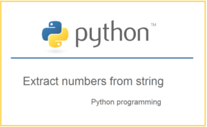 Extract numbers from a string in python