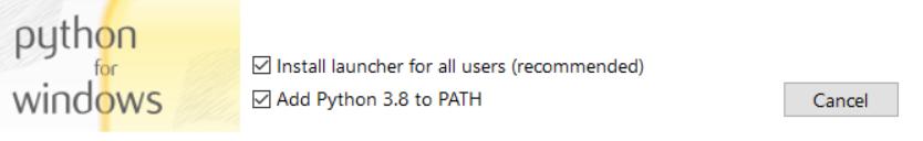 How to install Python 3.8.5 on Windows 10 machine wizard