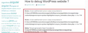 how to enable debugging in wordpress website
