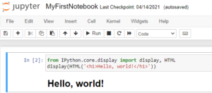 include HTML output in IPython notebook