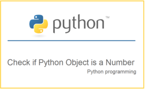Check if Python Object is a Number