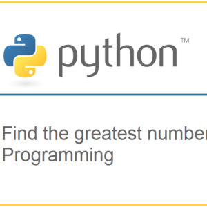 Python program to find the greatest of three numbers