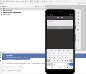 Run ionic app in android studio emulator