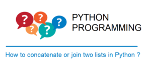 Concatenate or join two lists in Python