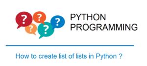 Create list of lists