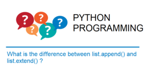 Difference between Python's list methods append and extend
