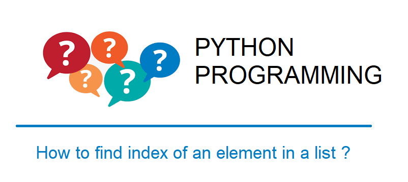 Find index of an element in a list Python