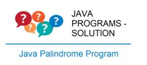 java palindrome program string number