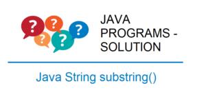 java string substring program