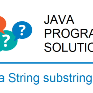java string substring program