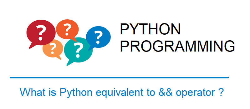 Python equivalent for && (logical and)