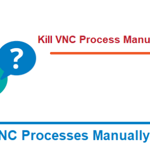 You'll have to kill the Xvnc process manually